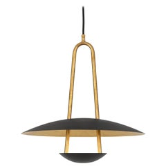 Johan Carpner Satellit 41 Ceiling Brass Black Lamp by Konsthantverk Tyringe