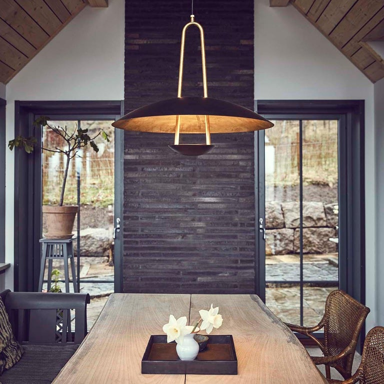 Celling lamp designed by Johan Carpner manufactured by Konsthantverk Tyringe in Sweden.