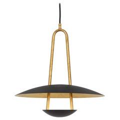 Johan Carpner Satellite 40 Ceiling Brass Black Lamp by Konsthantverk