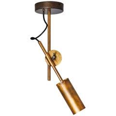 Johan Carpner Stav Spot 1 Brass Ceiling Lamp by Konsthantverk