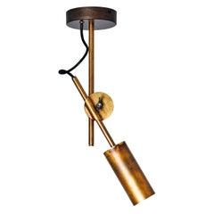 Johan Carpner Stav Spot Raw Brass Celling Lamp by Konsthantverk Tyringe