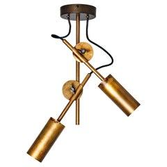 Johan Carpner Stav Spot Raw Brass Celing Lamp by Konsthantverk Tyringe