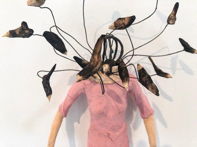 Small Gods  - Brown Figurative Sculpture by Johan Hagaman