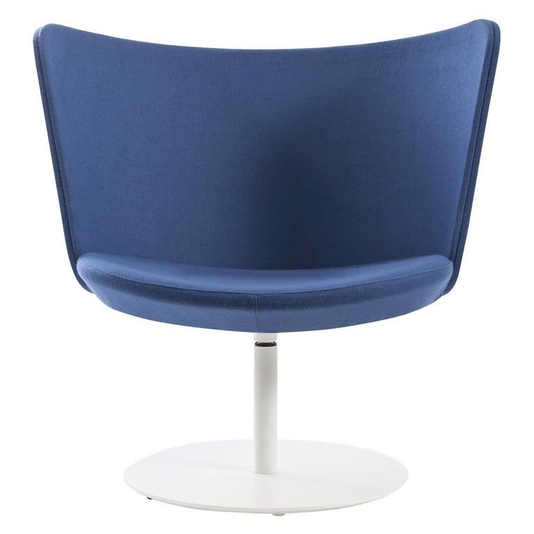 For Sale: Blue (Hero - 812) Johan Lindstèn Embroidery Simple Armchair in Fabric or Leather for Cappellini