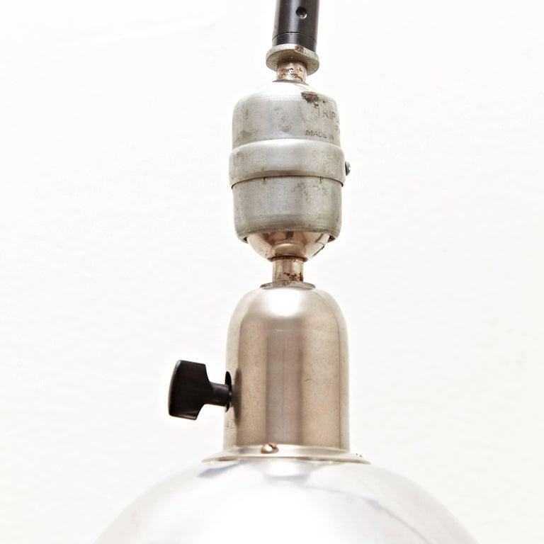 Mid-Century Modern Johan Petter Johansson Triplex Green Metal Industrial Wall Lamp, circa 1930 For Sale
