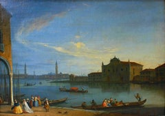 View of the Lagoon with the Island of Murano - Oil on Canvas by J. Richter