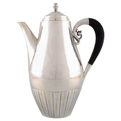 Johan Rohde for Georg Jensen, Cosmos Coffee Pot in Sterling Silver