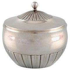 Johan Rohde for Georg Jensen, Kosmos Sugar Bowl in Sterling Silver