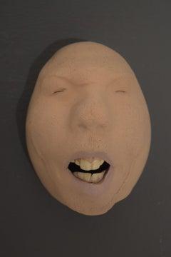 Nyllen 2 - 21st Century, Contemporary, Figurative Sculpture, Portrait, Ceramic