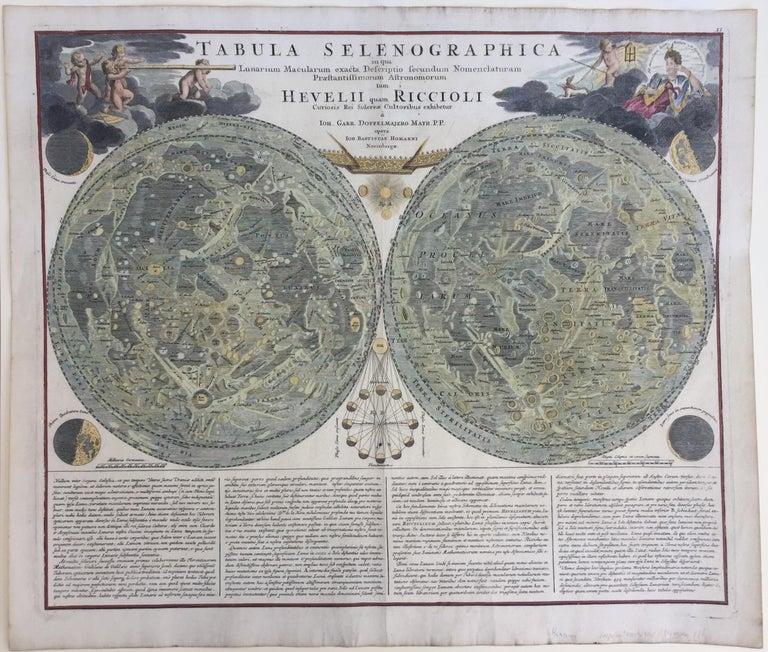 EARLY MAP OF THE MOON - Foundation map - Print by Johann Baptist Homann
