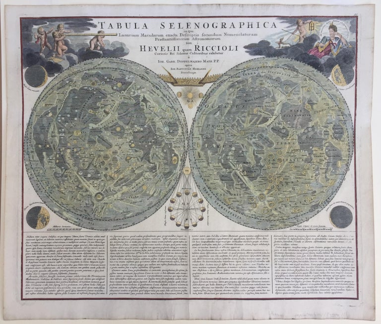 EARLY MAP OF THE MOON - Foundation map For Sale 7