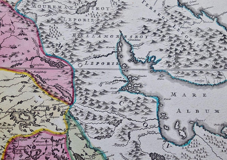 This hand-colored copper-plate map of Sweden and adjacent portions of Scandinavia entitled