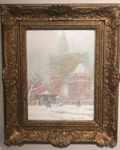 Johann Berthelsen Little Church Around the Corner New York City Oil Painting