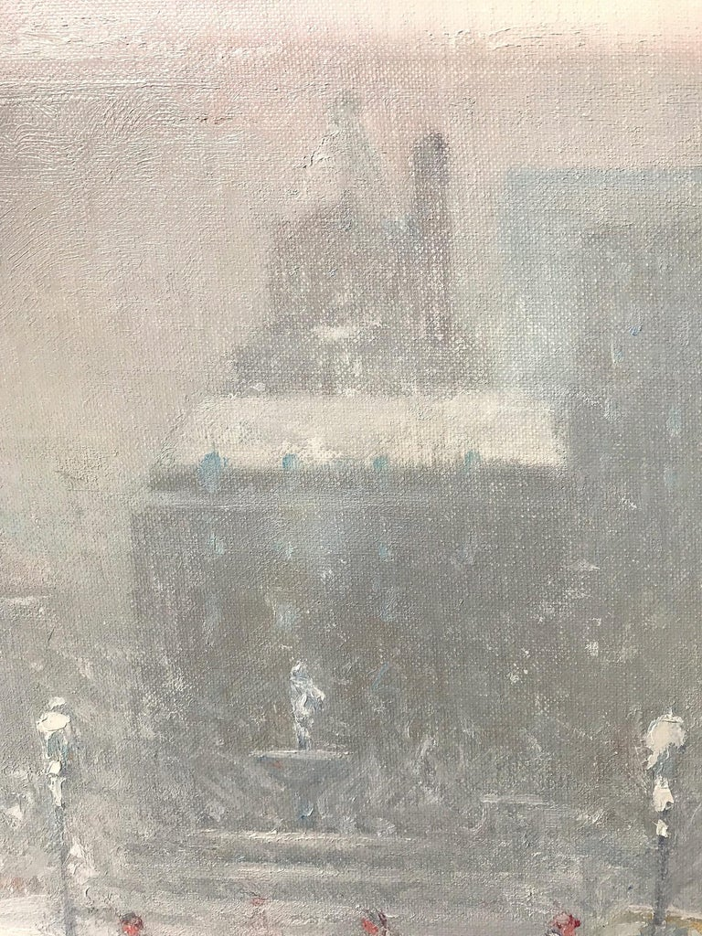 The Grand Army Plaza in Winter - American Impressionist Painting by Johann Berthelsen