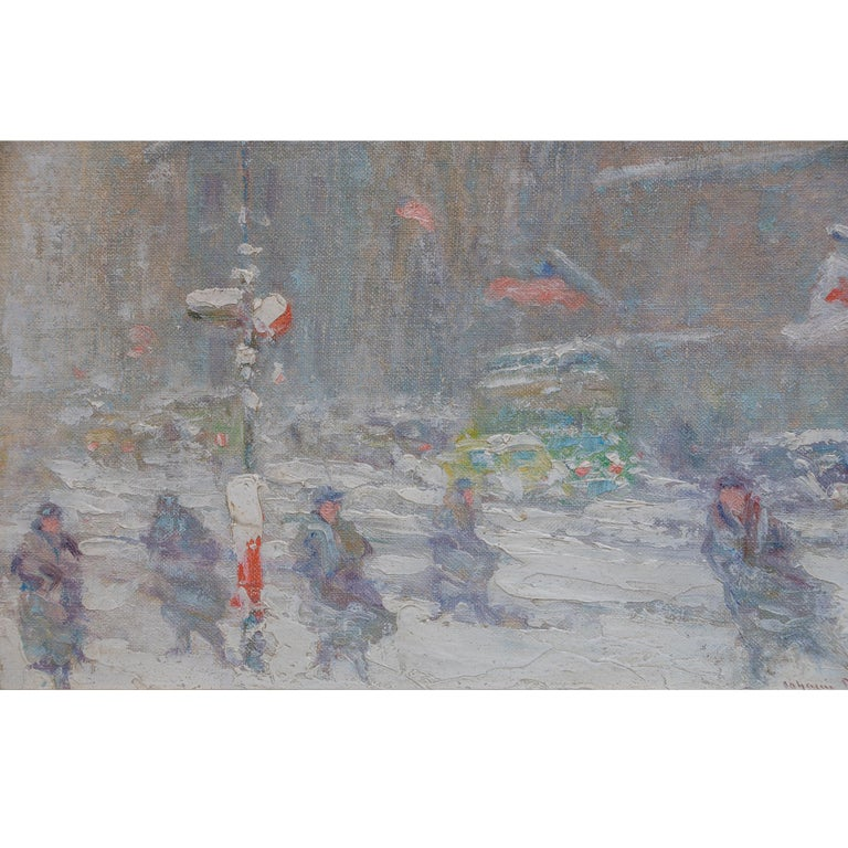View of St.Patrick's Cathedral, Fifth Avenue by Johann Berthelsen For Sale 2