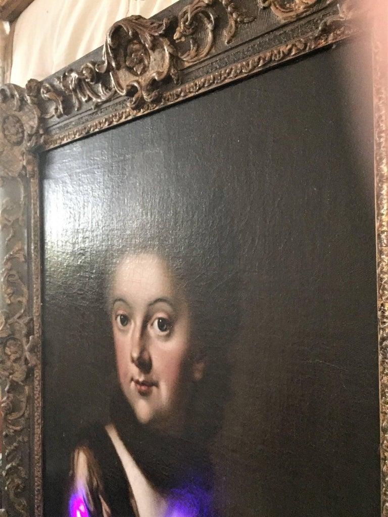 Duchess Anna Amalia Herzogin von Sachsen - Black Portrait Painting by Johann Ernst Heinsius