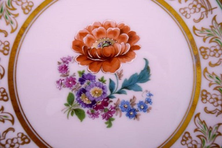 Johann Haviland Bavaria, Germany, 14 Decorative Plates in Hand Painted Porcelain For Sale 1