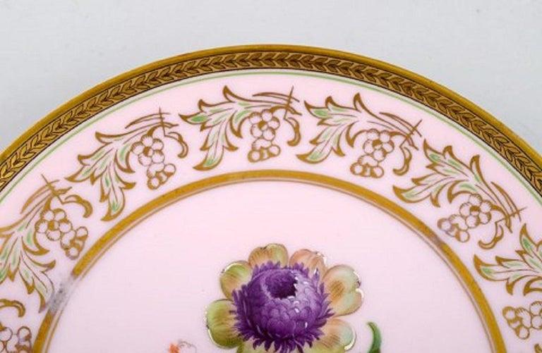 Johann Haviland Bavaria, Germany, 14 Decorative Plates in Hand Painted Porcelain For Sale 2