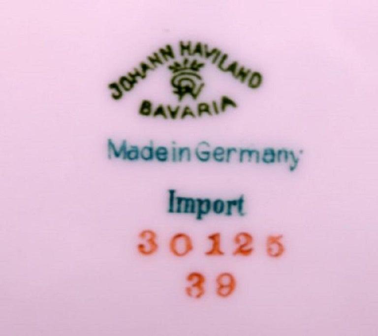 Johann Haviland Bavaria, Germany, 14 Decorative Plates in Hand Painted Porcelain For Sale 3