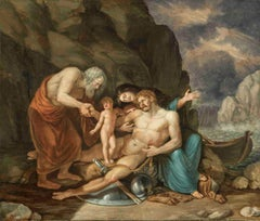 Tischbein, Death of a greek-roman hero, 1784-1785, oil on canvas