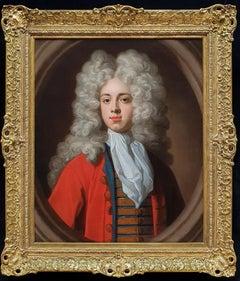 Portrait of a Gentleman in Red Coat c.1700, Antique Oil Painting, Kerseboom