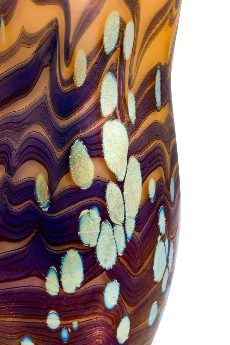 Jugendstil Johann Loetz Witwe Vase Decor Cytisus, 1902 For Sale