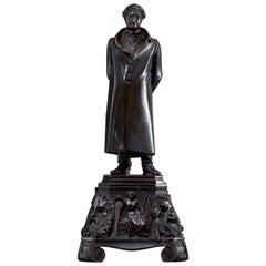 Johann Wolfgang von Goethe Bronze Figure by Christian Daniel Rauch