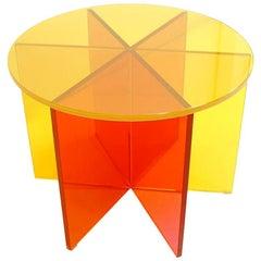 "Johanna Grawunder Modern for Glass Italian Laminated Glass Table ""Xxx"""