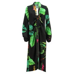 Johanna Ortiz Kiribati Printed Silk Satin Kimono US 4 UK 8