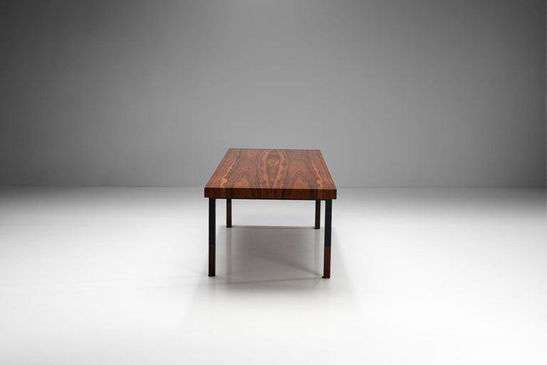 Danish Johannes Aasbjerg Rectangular Rosewood Coffee Table, Denmark, 1959 For Sale
