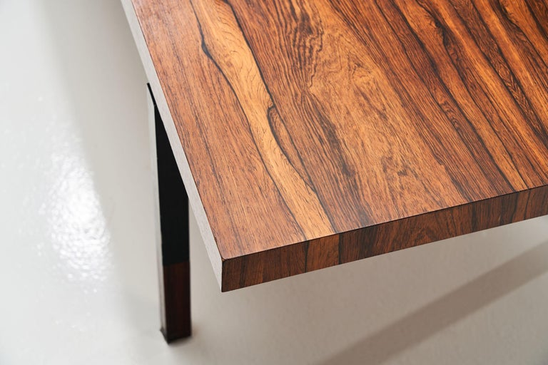 Johannes Aasbjerg Rectangular Rosewood Coffee Table, Denmark, 1959 In Good Condition For Sale In Utrecht, NL