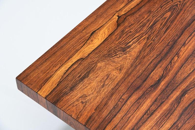 Mid-20th Century Johannes Aasbjerg Rectangular Rosewood Coffee Table, Denmark, 1959 For Sale