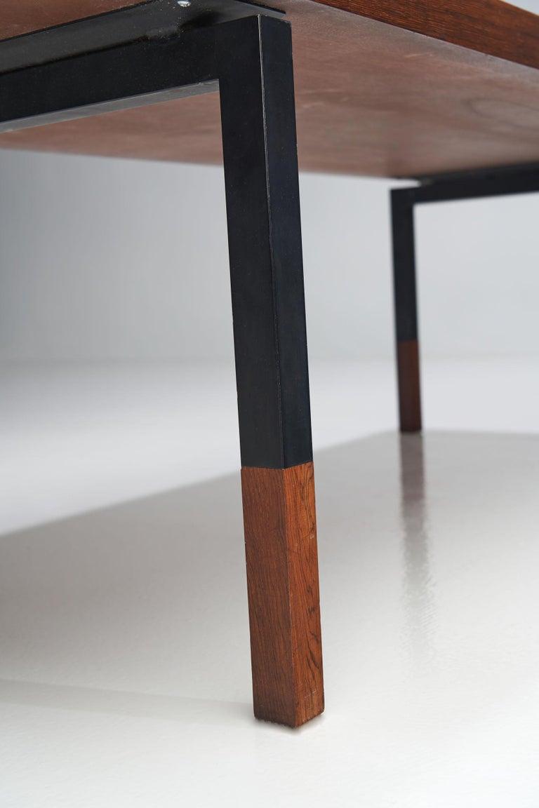 Johannes Aasbjerg Rectangular Rosewood Coffee Table, Denmark, 1959 For Sale 2