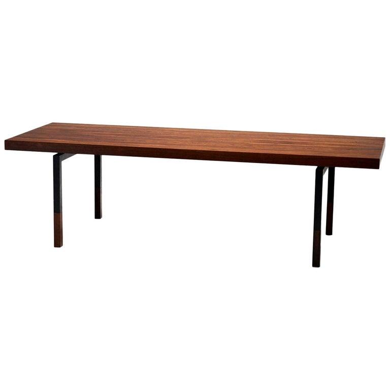 Johannes Aasbjerg Rectangular Rosewood Coffee Table, Denmark, 1959 For Sale