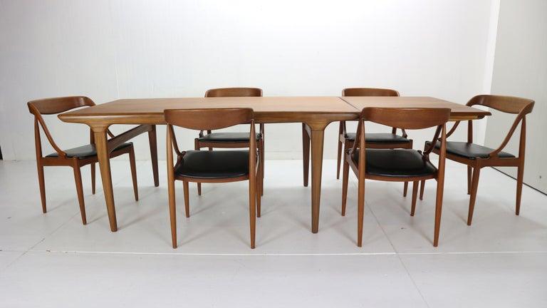 Johannes Andersen 6 Teak Dinning Chairs for Uldum Møbelfabrik, 1960s, Denmark For Sale 3