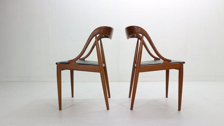 Johannes Andersen 6 Teak Dinning Chairs for Uldum Møbelfabrik, 1960s, Denmark For Sale 5