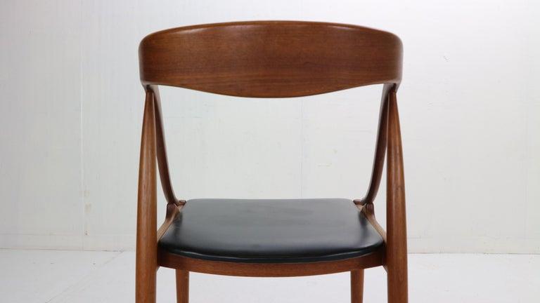 Johannes Andersen 6 Teak Dinning Chairs for Uldum Møbelfabrik, 1960s, Denmark For Sale 9