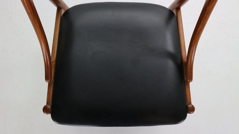 Johannes Andersen 6 Teak Dinning Chairs for Uldum Møbelfabrik, 1960s, Denmark For Sale 10