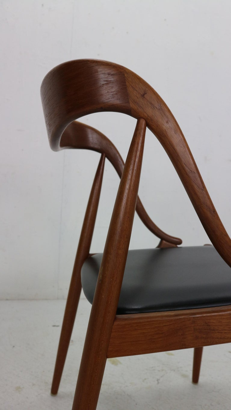 Johannes Andersen 6 Teak Dinning Chairs for Uldum Møbelfabrik, 1960s, Denmark For Sale 11