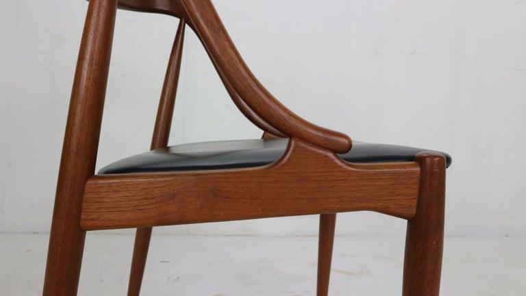 Johannes Andersen 6 Teak Dinning Chairs for Uldum Møbelfabrik, 1960s, Denmark For Sale 12