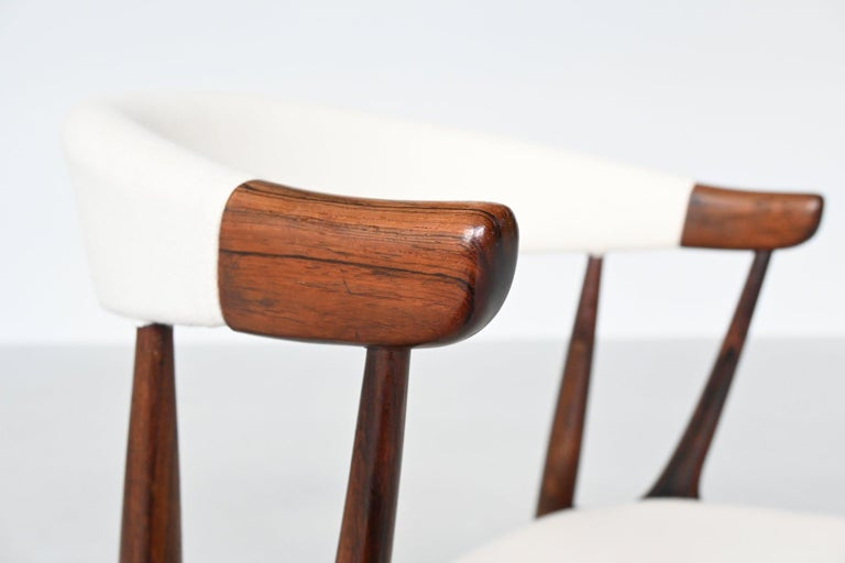 Johannes Andersen BA113 Rosewood Dining Chairs, Denmark, 1969 For Sale 3