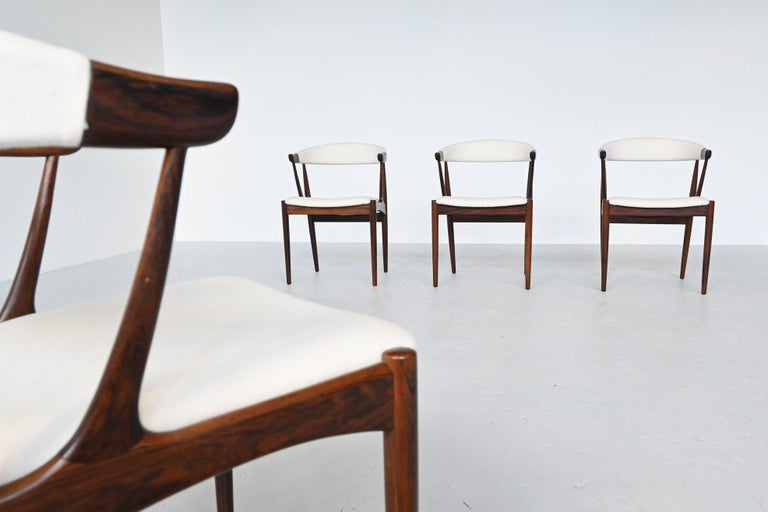 Mid-Century Modern Johannes Andersen BA113 Rosewood Dining Chairs, Denmark, 1969 For Sale