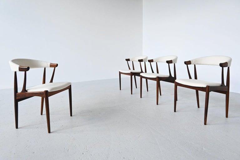 Johannes Andersen BA113 Rosewood Dining Chairs, Denmark, 1969 In Good Condition For Sale In Etten-Leur, NL
