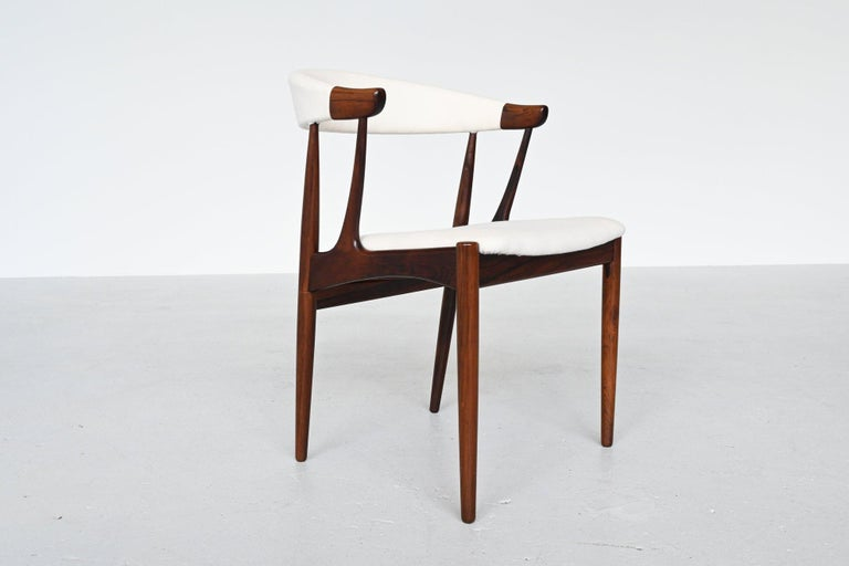 Upholstery Johannes Andersen BA113 Rosewood Dining Chairs, Denmark, 1969 For Sale