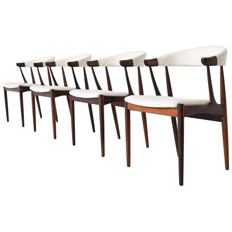 Johannes Andersen BA113 Rosewood Dining Chairs, Denmark, 1969 For Sale