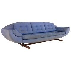 Johannes Andersen Capri Style Mid Century Gondola Sofa