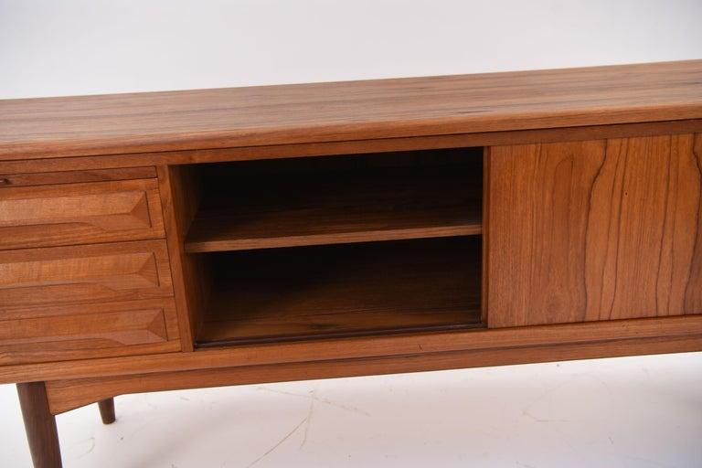 Johannes Andersen Danish Midcentury Teak Sideboard For Sale 6