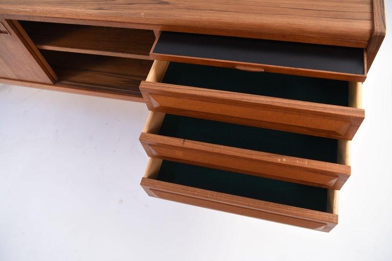 Johannes Andersen Danish Midcentury Teak Sideboard For Sale 8