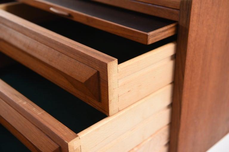 Johannes Andersen Danish Midcentury Teak Sideboard For Sale 9