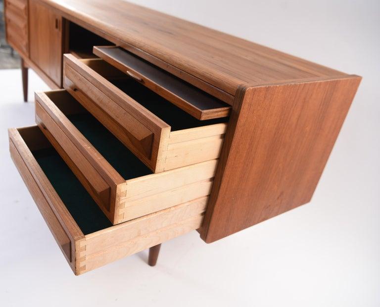 Johannes Andersen Danish Midcentury Teak Sideboard For Sale 10